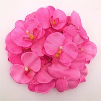 200pc 7cm Moth Orchid Flowers Sakura Emulate Decorative Artificial Flowers Fake Green Pot Plants Ornaments Home