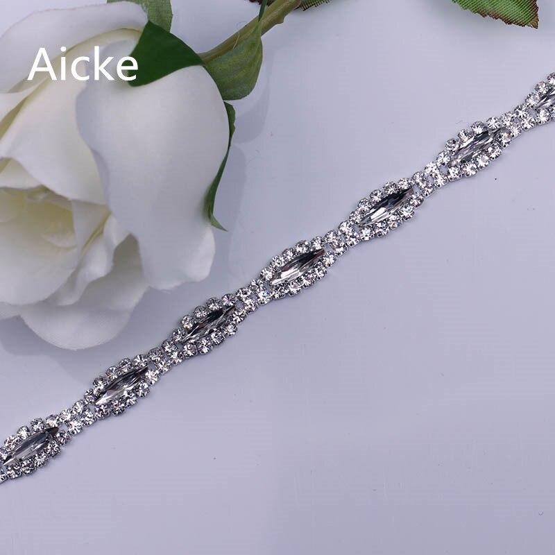 1 Curte 0,3 cm Mese Strat de argint Aplica pentru rochii de nunta Strasuri Trim
