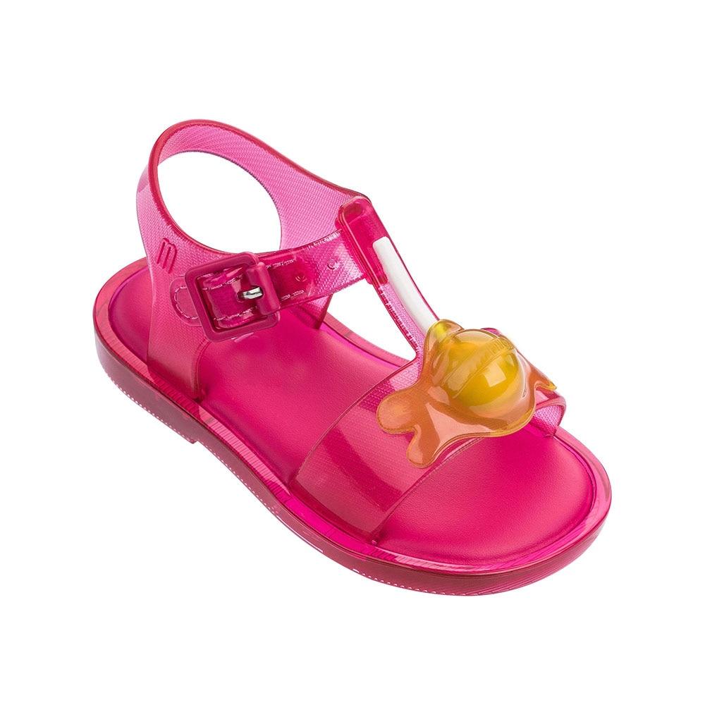 Mini Melissa Lollipop Girl Sandals 2019 New Original Girl Jelly Sandals Kids Sandals Children Beach Shoes Non-slip Toddler Shoes