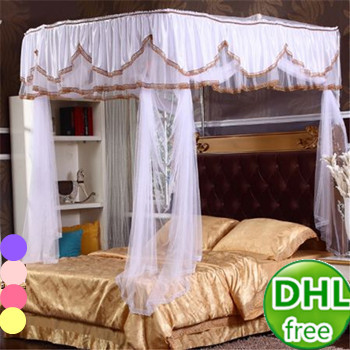 Best Dhl Freies Dekorative Prinzessin Erwachsene Royal Schiene Moskitonetz  Fr Doppelbett Luxus Elegante Spitze Bett Baldachin Mit Hhe Mt In Dhl With  ...