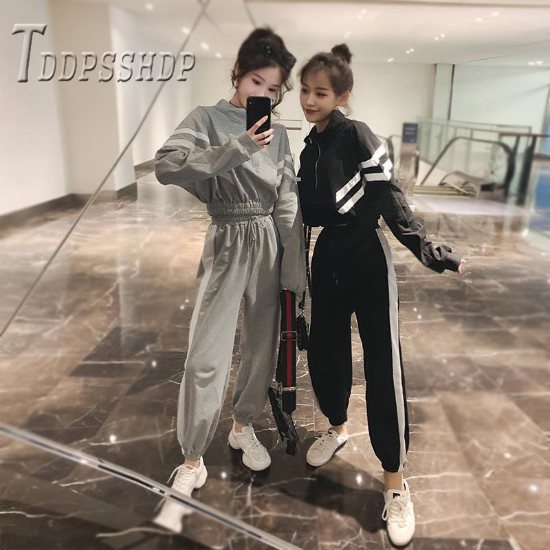 2019 Spring Autumn Women Sets Sweatshirt And Casual Pants Female Sets