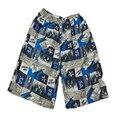 2016 hombres playa pantalones cortos ocasionales respirables de moda de impresión elástica grandes pantalones cortos tamaño verano playa de hombre ropa CJZNDK0002