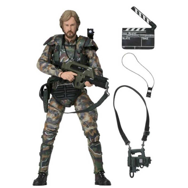 18cm Movie Aliens vs Predater Figuur Kolonel Cameron PVC Actiefiguren James Cameron Colonial Model Speelgoed