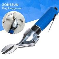 ZONESUN Straight Type Pneumatic Scissors Algam Aluminum Sheet Cut Stainless Steel Plate Gas Cutting Scissor Diamond
