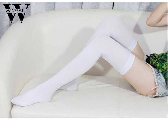 חדש גרבי אופנה גרביים מזדמנים כותנה ירך גבוהה מעל הברך אקריליק גבוהה גרבי בנות נשים נשי ארוך הברך גרב 2018