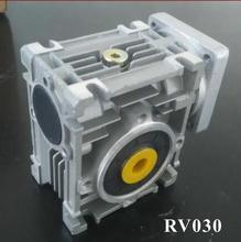 2 pçs/lote 7.5: 1-80: 1 Worm Worm RV030 Redutor NMRV030 11mm Do Eixo de Entrada de Velocidade Caixa de Câmbio redutor para NEMA 23 Do Motor