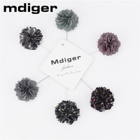 Mdiger Fashion Gentlemen Wedding Suits Fabric Brooches For Men Flower Brooch Pins Long Insert Collar Pin
