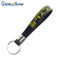 500PCS/lot Free shipping customized scren printed logo rubber silicone key chains for gifts P031603