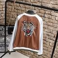 Tiger Embroidery Women Jackets Plus Size 3XL Loose Novelty Jacket Outerwear KK2195