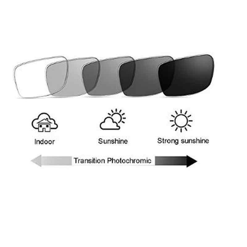 Progressive multifocal משקפי קריאת גברים של מתכוונן ראיית כיכר שמש photochromic חיצוני משקפי שמש עם תיבת NX