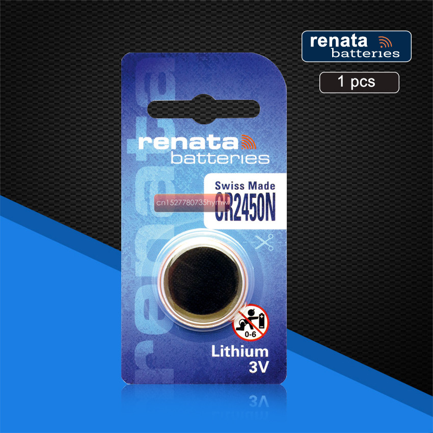 1pc New Original Renata CR2450 <font><b>CR</b></font> <font><b>2450</b></font> <font><b>3V</b></font> Lithium Button Cell Battery Coin Batteries For Watches,clocks,hearing aids image