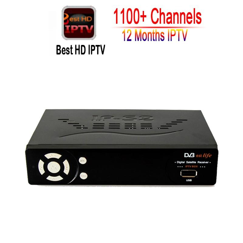 1 Year IPTV 1150+ Channels IP S2 plus Smart Tv Box Europe Arabic italy IPTV Box Support DVB-S2 Satellite Receiver HD Full 1080P original 1pc v8 golden 1080p full hd dvb s2 dvb t2 dvb c digital satellite tv receiver support youtube powervu iptv usb wifi