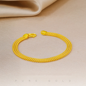 Image 2 - 24K Reinem Gold Armband Echt 999 Solid Gold Armreif Gehobenen Schöne Schmetterling Romantische Trendy Klassische Schmuck Heißer Verkauf Neue 2020