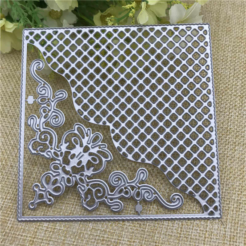 Delicate Star Lace Framed Cutting Dies Stencil Scrapbook Paper Cards Craft UK