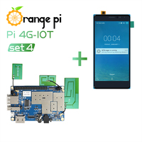 Orange Pi 4G-IOT Set4: Orange Pi 4G-IOT +  5.5inch Black color TFT LCD Touch Screen