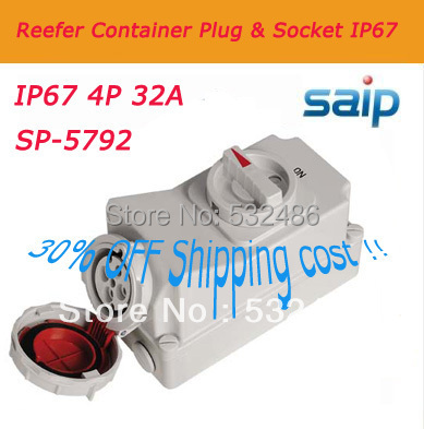 цена на 30% SHIPPING COST!! HOT Sale reefer container plug cee electrical plugs and socket SP5792