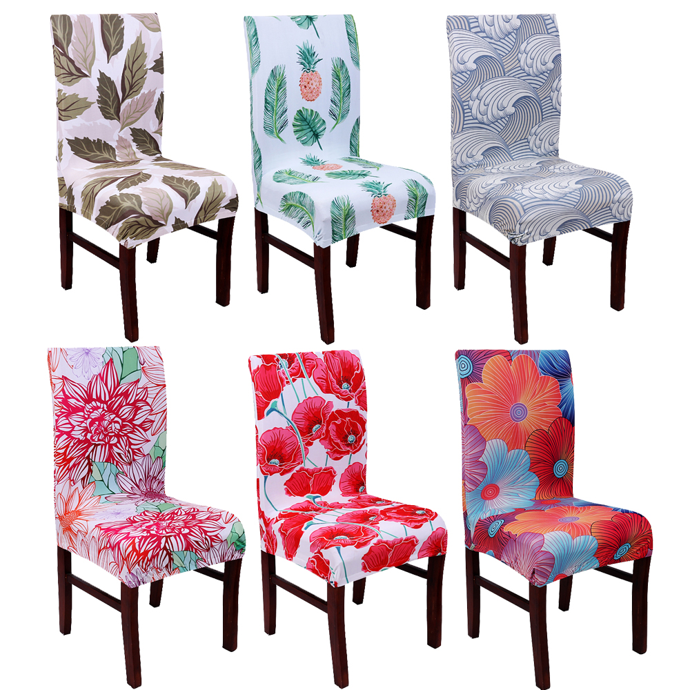 Living Room Chair Covers: Mandala Floral Spandex Elastic Dining Stretch Chair Cover