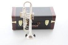 Тайвань Бах двойной посеребренный золотой ключ LT180S37GS Bb Труба жесткий кожаный чехол Топ Музыкальные инструменты латунь стеклярус