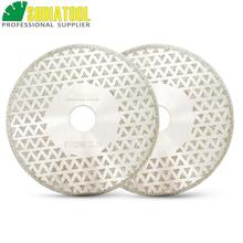 "SHDIATOOL 2pk 5"" Electroplated diamond cutting & grinding disc Bore 22.23 Diameter 125MM for marble granite tile ceramic"