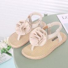 Girls Sandals Baby Kids Hook Princess Beach Shoes 2019 ankle-wrap Fashion pu leather Sun Flowers kids sandals