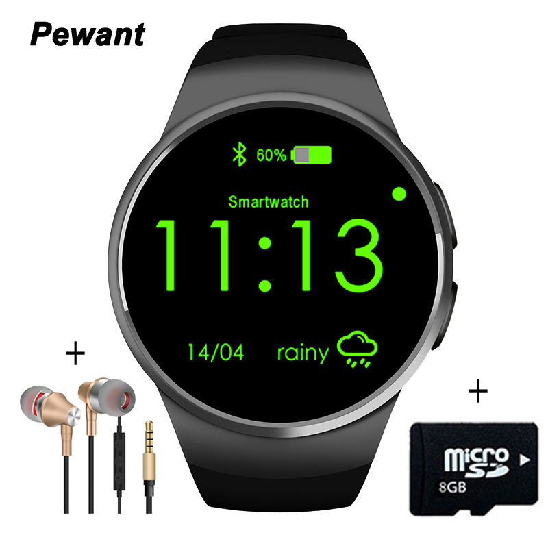Galleria fotografica Pewant kw18 smart watch con cardiofrequenzimetro montre connecter <font><b>smartwatch</b></font> per samsung gear s3 s2 android per apple iphone IOS