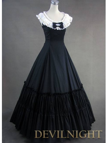 Popular Black Victorian Dress-Buy Cheap Black Victorian Dress lots ...