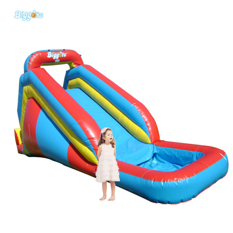 Inflatable Biggors Inflatable Water Slide With Pool Water Games For Sale popular best quality large inflatable water slide with pool for kids