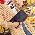 Fashion  sheepskin Genuine Leather Messenger Bag Famous Brand Women Shoulder Bag Envelope Women Clutch Bag Small Crossbody bag