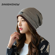 [HEAD BEE] 2017 Fashion Beanies Hat Winter Cap Adult Cotton Ladies Knitted Skullies for Women