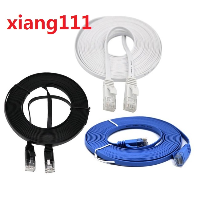 Xiang111 0.7 m 1.6 m 2.4 m 4 m 8 m bleu Ethernet Internet LAN CAT5e câble réseau pour ordinateur Modem routeur