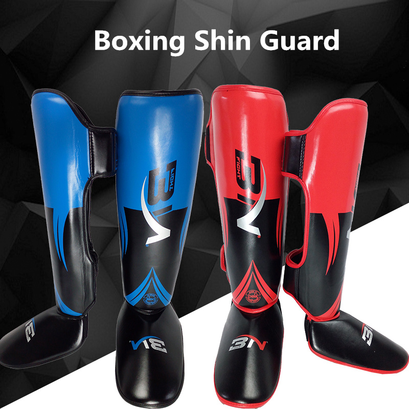 Shin Guard Boxing leggings Legging Protector caneleira muay thai training racket taekwondo fighting combat sets for boxing sanda professional boxing training human simulated head pad gym kicking mitt taekwondo fighting training equipment mma punching target