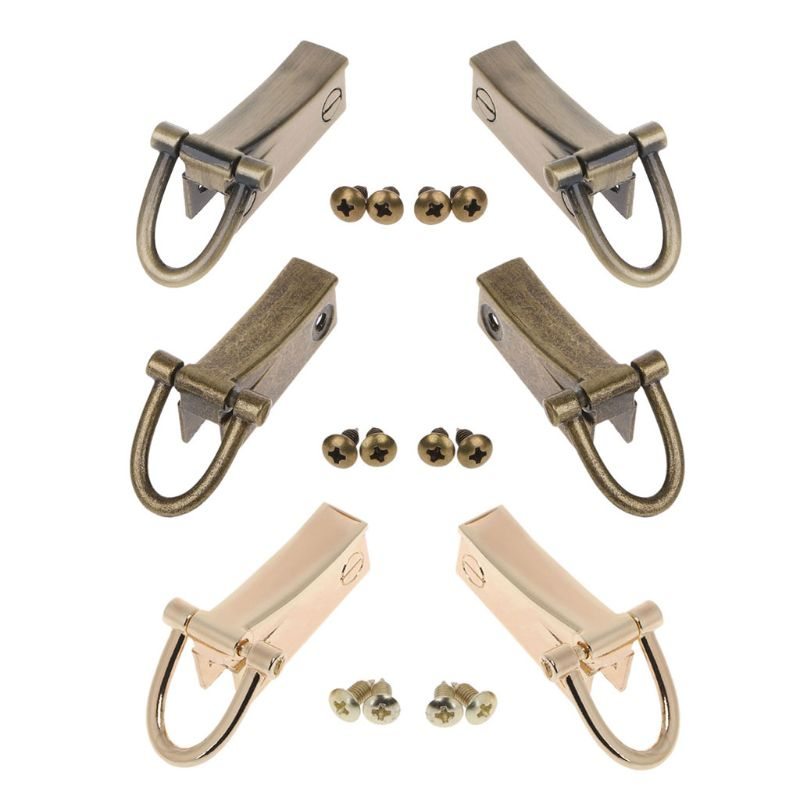 THINKTHENDO DIY 2 Side Metal Clip Hardware Clasp Accessory For DIY Purse Making Handbag Shoulder Crossbody Bags Bag Accessories