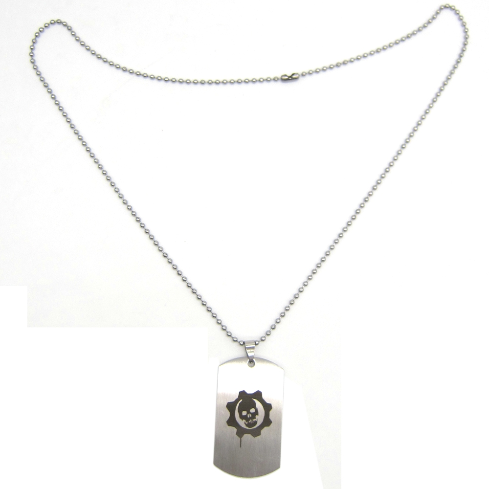 New Stainless Steel Zodiac Dog Tag Pendant Men S Women S: New Game Gears Of War 4 Logo Necklace Skull Stainless