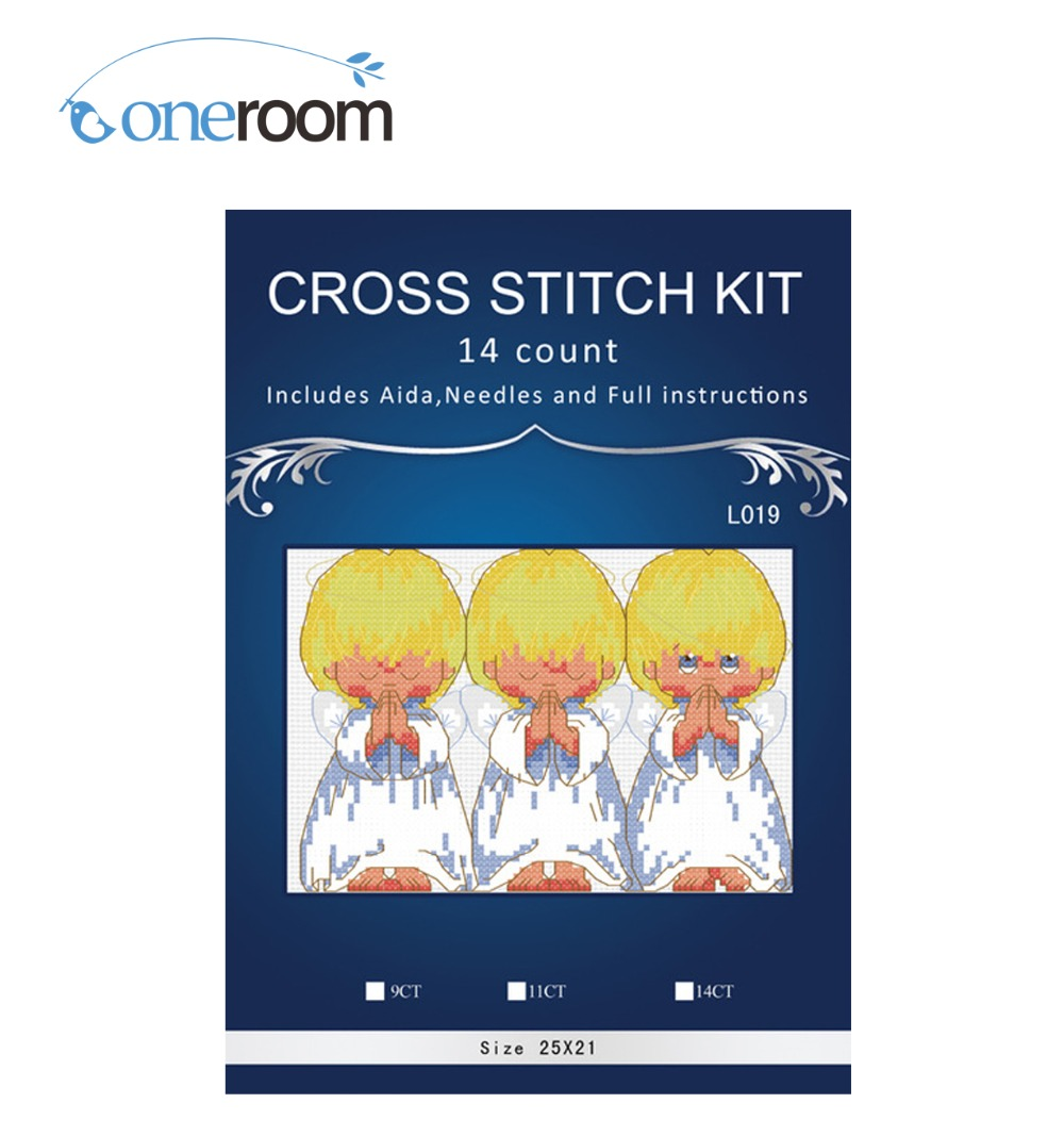 Top Quality Top Quality Lovely Counted Cross Stitch Kit  Almost Perfect 3 Little Angels Embroidery Kits