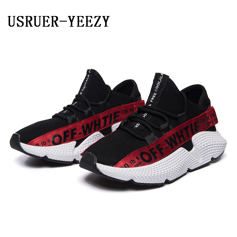 b6f6d9ebddc USRUER YEEZY 2018 new men spring sneakers women running shoes outdoor air  350 sport shoes boys girls jogging boosts high quality-in Running Shoes  from ...