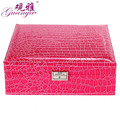 Guanya Fashion Jewelry Accessories Box Wedding Birthday Gift Rings Necklace Earrings Storage leatherBoxes 7 Colors