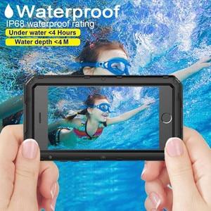 Image 3 - Sang trọng giáp Kim Loại Nhôm Đựng điện thoại Chống Nước cho iPhone XR X 6 6S 7 8 Plus XS Max Chống Sốc chống bụi Dày Bao