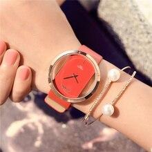 High Quality Fashion Leather Strap Black Women Watch Casual Love Heart Time Quartz Wrist Watch Women Dress Ladies Luxury Watches