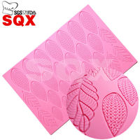 Free Shipping Leaf Silicone Cake Mold Sugar Silicone Lace Mat Cake Decorating Tools Fondant Mould Kitchen