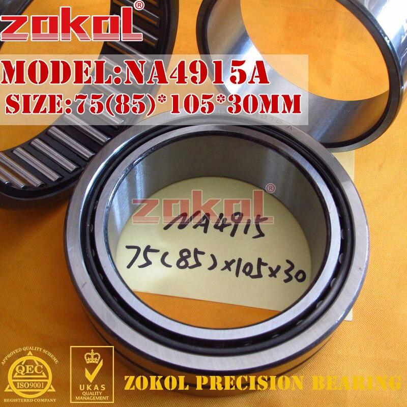 ZOKOL bearing NA4915A NA4915 A Entity ferrule needle roller bearing 75(85)*105*30mm rna6912 heavy duty needle roller bearing entity needle bearing without inner ring 6634912 size68 85 45