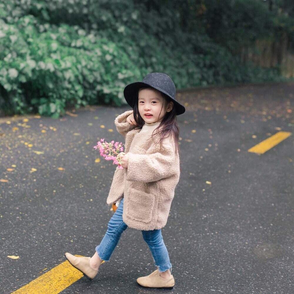2017 Lovely Winter Autumn Girls Faux Fur Fleece Coat Warm Jacket Snowsuit Outerwear Children Kids Clothes Cute sherpa fleece faux suede coat