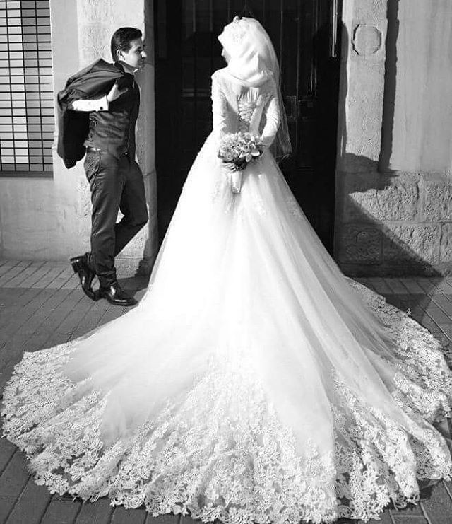 Atemberaubend Brautkleid Mit Hijab Ideen - Hochzeitskleid Ideen ...