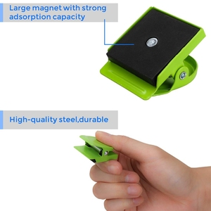 Image 5 - Magnetic Clips, 24 Pieces Magnetic Metal Clips, Refrigerator Whiteboard Wall Fridge Magnetic Memo Note Clips Magnets Metal Cli