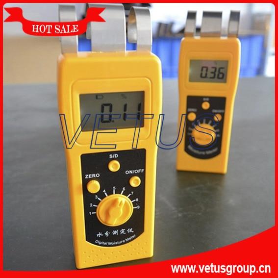 DM200T 0~50% Textile moisture meter mc 7806 digital moisture analyzer price with pin type cotton paper building tobacco moisture meter