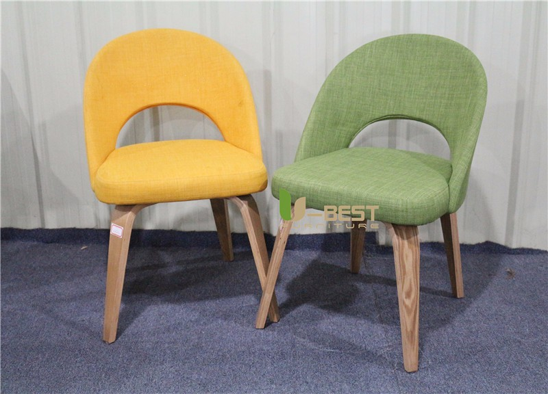 Saarinen Executive mid century side dining chair with wood leg (6)