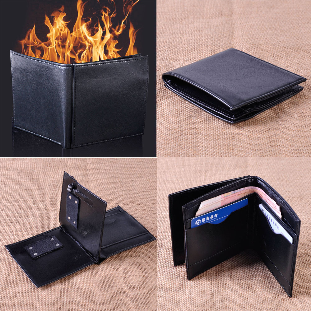 Truco de magia y fuego mago truco Wallet etapa calle magia Prop truco rendimiento bromas novedad juguetes mágicos