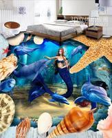 pvc floor Custom Ocean World wallpapers Bedroom Living Room floor tile self adhesive photo wallpaper