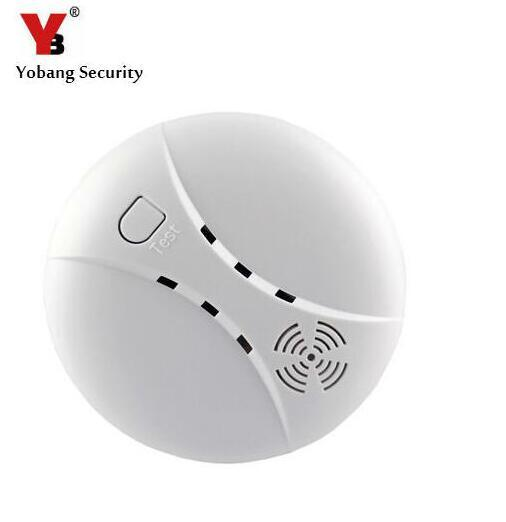 Yobang Security 433Mhz Wireless Smoke Sensor Fire Alarm Smoke Detector Alarm For Home Garden Security Auto Dial Alarm Systems