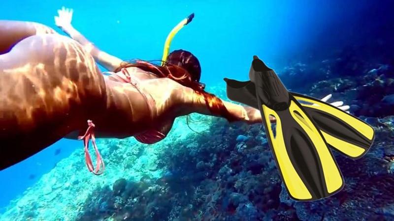 Plongée longue eau aqua mer chaussures pour natation palmes cheville équipement de plongée en apnée loisirs sous-marine sirène monofin palmes