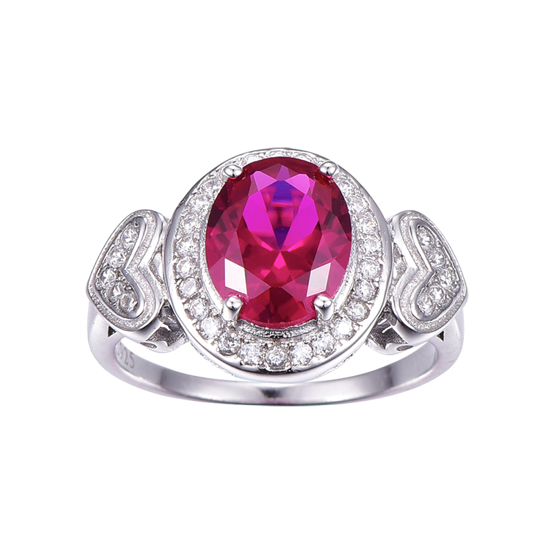 JewelryPalace Retro 0.43ct Created Ruby Pendant Statement Ring 925 Sterling Silver SYhzKJJq